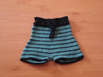 Black Ocean Soaker Shorts- Crocheted 100% Wool