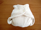 Drybees One Size Bamboo Fitted Cloth Diapers- closed