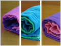Dyed Cloth Prefold Diapers- Infant 3 packs