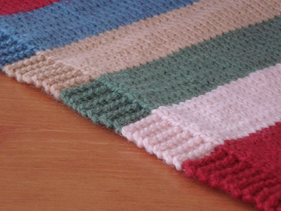 100% Cotton Hand Finished Knit Blanket