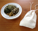 Joven's Wool Sachet- an aromatic blend of peppermint, eucalyptus, wormwood and chammomile